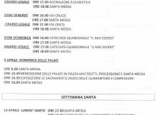Programma Quaresima Pasqua 2017, Basilica Santi Cesidio e Rufino MM.